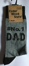 """Mens Grey Socks with """"No 1 Dad"""" detail Ideal for Fathers Day"""