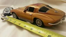 1963 Corvette Plastic Car Toymax Inc. 1/24 with remote untested road champs Gold