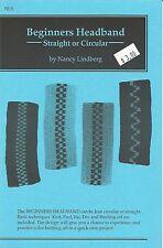 "Beginners Headband Knitting Instruction Pattern Nancy Lindberg 20""-23"" Head NL9"