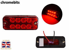 10 x 12V 8 LED FRONT SIDE REAR  RED MARKER LIGHTS TRUCK LORRY TRAILER