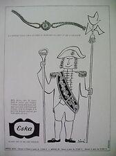 PUBLICITE DE PRESSE ESKA MONTRE HORLOGERIE ILLUSTRATEUR SINE FRENCH AD 1948