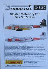 Xtradecal 1/48 X48160 Gloster Meteor F.8/TT.8 Day Glo Stripes  Decal Sheet