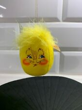 "2002 Annalee 3"" Yellow Egg Ornament"