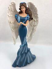 Angel Heavenly Whisper of Peace Ovarian Cancer Figurine Bradford Thomas Kinkade