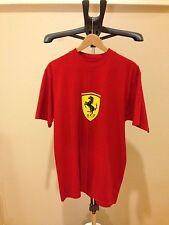 Authentic Scuderia Ferrari Scudetto Shield T Shirt Red Size S Staff No For Sale