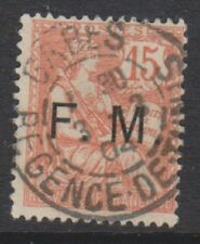 France - 1903, 15c Pale Red stamp - Optd F.M - G/U - SG M314
