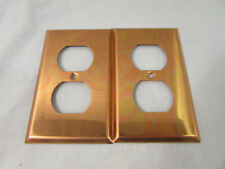 Lot of 2 Vintage Copper Outlet Covers, Unbranded