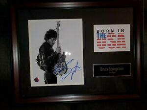 Bruce Springsteen signed Born in the USA Music display