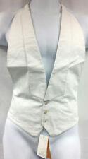 A Dobell Black Label WhiteTie Pure Cotton Backless Waistcoat Tuxedo Vest Size L