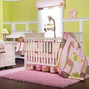 Carter's Jungle Jill 8 Piece Baby Crib Bedding W Padded  Bumper