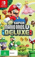New Super Mario Bros U Deluxe Nintendo Switch NS Fun Family Kids Adventure Game