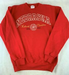 VTG Santee Sweatshirt~Long Sleeve~Nebraska National Champions~1994-95~M~EUC
