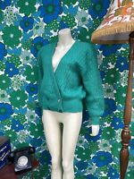 L23 Vintage 1980's Mohair Cardigan Green Size 12