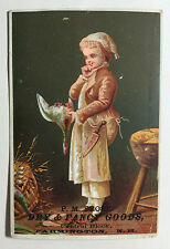Victorian Trade Card, P.M. Frost, Dry & Fancy Goods, Farmington N.H.