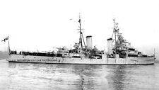 ROYAL NAVY DIDO CLASS LIGHT CRUISER HMS SIRIUS ENTERING PORTSMOUTH
