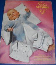 Vintage Sirdar Baby Matinee Coats Knitting Pattern 51