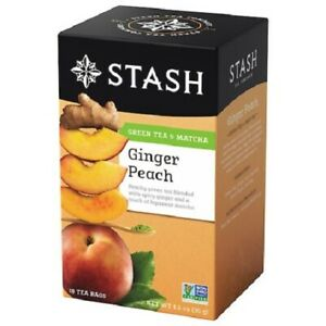 Stash Ginger Peach Green Tea & Matcha