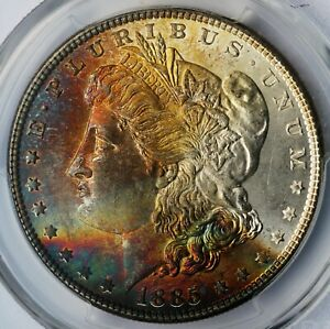 1885 Morgan Silver Dollar PCGS MS64 Toned