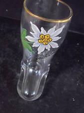 """Vintage  TEUFELSHOHLE  SOUVENIR GLASS BOOT 3"""" Devil's Hole Bavaria"""