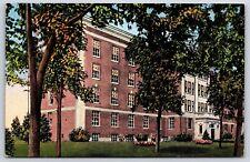 Municipal Hospital Building in Beloit, Wisconsin Rock County Linen Postcard