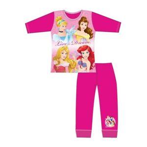 Disney Princesses Girls Pyjamas Kids Nightwear Age 4 to 10 Years Pink Cinderella