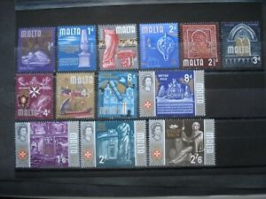 17 Excellent Quality Mint Not Hinged Stamps Malta 1965