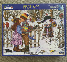 WHITE MOUNTAIN 1000 Piece Jigsaw Puzzle FIRST KISS Wendy Edelson   Complete