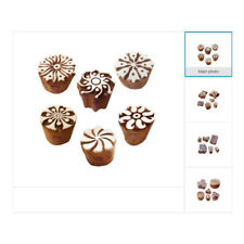 Creative Floral Designs DIY Fabric Textile Wooden Stamps for Block Printing
