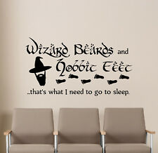 Tolkien Quote Wall Decal Hobbit Gift Vinyl Sticker LOTR Poster Geek Decor 20v