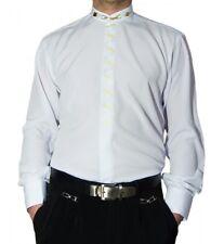 Diseñador hombre cuello alto camisa S1 Negro O Blanco de con PALO