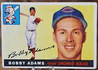 1955 Topps Baseball Card #178 Bobby Adams, Cincinnati Redlegs - VG