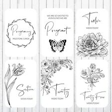 Pregnancy Milestone Cards, 4x6 Photo Prop, 40 Cards, Floral