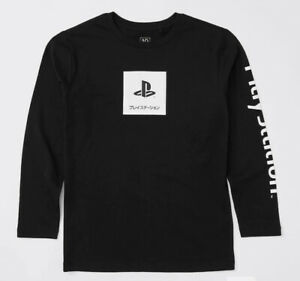 Boys size 9 black  PLAYSTATION cotton  long sleeve tee  top  NEW