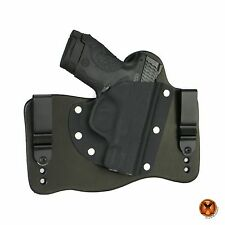 FoxX Leather & Kydex IWB Holster Smith & Wesson M&P Shield .45 ONLY Black Right