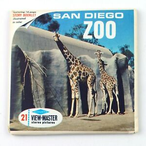Vintage View-Master Reels Set Packet A173 SAN DIEGO ZOO California