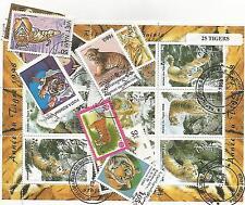 """Lot timbres thematique """" Tigres """""""