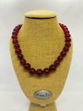 Vintage Natural Cherry Amber Beaded Necklace