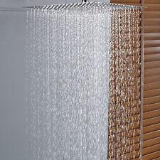 Rain Shower Head 16-inch Wall Mount Brushed Nickel Top Sprayer Stainless Steel