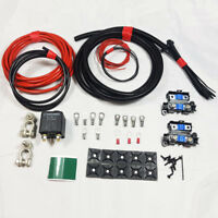 HIGH QUALITY LIGHT DUTY SPLIT CHARGE KIT 12V 100AMP RELAY 7MTR  70 AMP CABLE