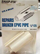 "Snap-Fix Repairs Broken CPVC Pipe 1/2"" CTS #SNC-0400-B FREE SHIPPING!"