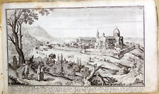 LORETO MARCHE ANCONA - VIEW Bodenehr G. antique map - RARE