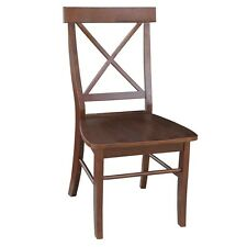 Whitewood Industries X-Back Chair - w/solid wood seat Espresso C581-613P chair