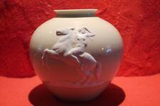 Rosental Nymphe auf Pferd Kugelvase antik Jugendstil Sammlerstück Kugelvase