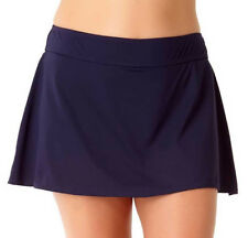 NEW Anne Cole Live in Color Navy Skirted Swimwear Bikini Bottom L Large
