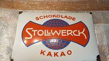 Emailschild original Stollwerck 1920