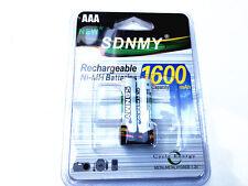 2x AAA battery batteries Bulk Nickel Hydride Rechargeable NI-MH 1600mAh 1.2V