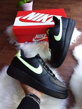 SIZE 9.5 WOMEN'S NIKE AIR FORCE 1'07 Black 315115 040 Casual Running Shoes