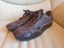 Louis Vuitton Ladies Brown Gold Trainers Sneakers Shoes  size 39.5   Genuine