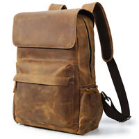 Vintage Herren Leder Rucksack Reise Wandern 15 Zoll Laptop Backpack Schultasche