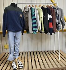 JOB LOT x10 Vintage Sweatshirts / Jumpers Half zip and 3 button (53)